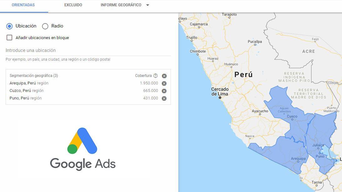 Google AdWords campañas